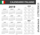 italian calendar for 2019  2020 ... | Shutterstock .eps vector #1178130613