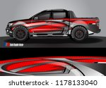 truck and car decal design... | Shutterstock .eps vector #1178133040