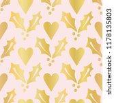 luxe rose gold foil christmas... | Shutterstock .eps vector #1178135803
