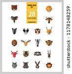 animal head vector icon set.... | Shutterstock .eps vector #1178148259