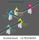 road infographic. information... | Shutterstock .eps vector #1178156050