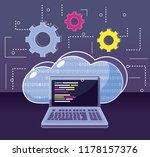 program coding concept | Shutterstock .eps vector #1178157376
