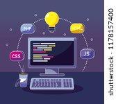 program coding concept | Shutterstock .eps vector #1178157400