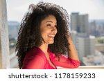 portrait of smiling young black ... | Shutterstock . vector #1178159233