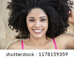 portrait of smiling young black ... | Shutterstock . vector #1178159359