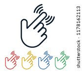 click icons with hand shaped on ... | Shutterstock .eps vector #1178162113