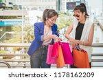 woman in shopping. happy woman... | Shutterstock . vector #1178162209