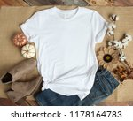mockup of a white t shirt blank ... | Shutterstock . vector #1178164783