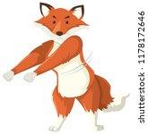 a fox doing floss dance... | Shutterstock .eps vector #1178172646