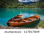 Boats At The Pier Of The Bled...