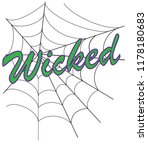 wicked halloween web | Shutterstock . vector #1178180683