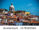 lisbon portugal looking at the... | Shutterstock . vector #1178182060