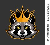 king raccoon mascot  sport or... | Shutterstock .eps vector #1178184283
