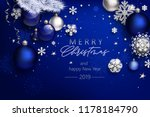 blue christmas composition | Shutterstock .eps vector #1178184790