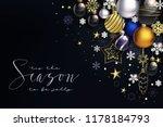 modern christmas composition...   Shutterstock .eps vector #1178184793