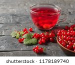 glass mug with a refreshing... | Shutterstock . vector #1178189740