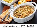 green beans casserole ... | Shutterstock . vector #1178196703