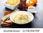 mashed potatoes with gravy ... | Shutterstock . vector #1178196709