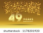 49th anniversary gold numbers.... | Shutterstock .eps vector #1178201920