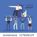 the concept of a chief who... | Shutterstock .eps vector #1178206129