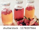 kombucha second fermented fruit ... | Shutterstock . vector #1178207866