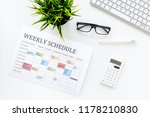 weekly schedule. planning the... | Shutterstock . vector #1178210830