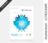 creative book cover design.... | Shutterstock .eps vector #1178213689