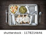 creamed chipped beef on toast...   Shutterstock . vector #1178214646