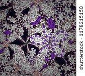 vector illustration. flowers on ... | Shutterstock .eps vector #1178215150