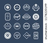 collection of logo and badge... | Shutterstock .eps vector #1178220199