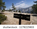 sign on north dome hiking trail ... | Shutterstock . vector #1178225803