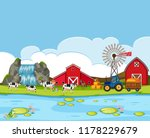 a rural farmland landscape... | Shutterstock .eps vector #1178229679