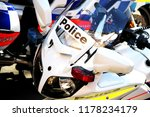Closeup Of A Police Motorcycle...