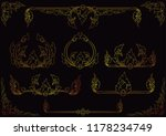 set of vintage frames  thai art ... | Shutterstock .eps vector #1178234749