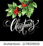 christmas lettering with...   Shutterstock .eps vector #1178235010