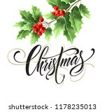 christmas lettering with... | Shutterstock .eps vector #1178235013
