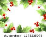 christmas mistletoe green...   Shutterstock .eps vector #1178235076