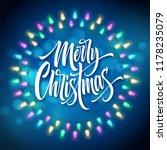 merry christmas lettering in... | Shutterstock .eps vector #1178235079
