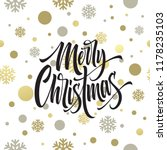 merry christmas hand drawn... | Shutterstock .eps vector #1178235103