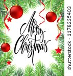 merry christmas hand drawn... | Shutterstock .eps vector #1178235403