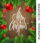 merry christmas lettering in... | Shutterstock .eps vector #1178235406