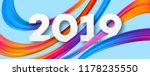 2019 new year acrylic banner... | Shutterstock .eps vector #1178235550
