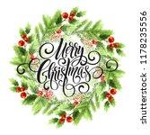 merry christmas lettering in... | Shutterstock .eps vector #1178235556