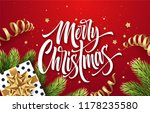 merry christmas hand drawn... | Shutterstock .eps vector #1178235580