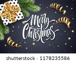 merry christmas hand drawn... | Shutterstock .eps vector #1178235586