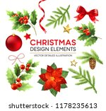christmas design elements set.... | Shutterstock .eps vector #1178235613