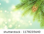realistic fir tree branch with... | Shutterstock .eps vector #1178235640