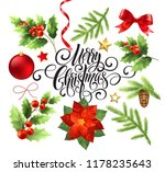 merry christmas design elements ... | Shutterstock .eps vector #1178235643