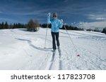 female cross country skier | Shutterstock . vector #117823708