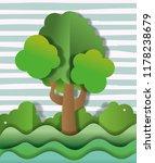 paper art scenery   Shutterstock .eps vector #1178238679